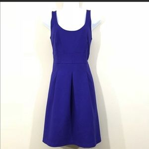Loft Women's Dress Size 2 Fit and Flare Scoop Neck